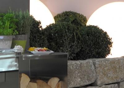 Messegarten / Outdoor-Küche von Björn Brand Gartengestaltung